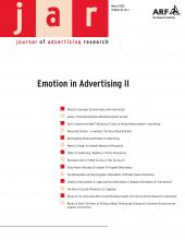Journal of Advertising Research: 46 (1)