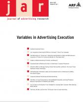 Journal of Advertising Research: 47 (1)
