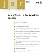 Journal of Advertising Research: 47 (4)