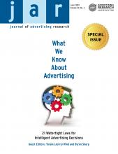 Journal of Advertising Research: 49 (2)