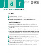 Journal of Advertising Research: 49 (3)