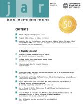Journal of Advertising Research: 50 (1)