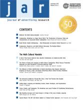 Journal of Advertising Research: 50 (3)