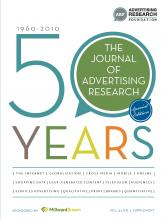 Journal of Advertising Research: 51 (1 50th Anniversary Supplement)