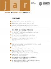 Journal of Advertising Research: 51 (2)