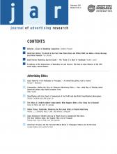 Journal of Advertising Research: 51 (3)