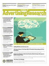 Journal of Advertising Research: 52 (3)