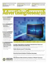 Journal of Advertising Research: 53 (1)