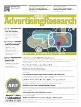 Journal of Advertising Research: 53 (2)