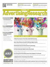 Journal of Advertising Research: 53 (3)