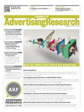 Journal of Advertising Research: 53 (4)