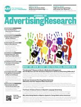 Journal of Advertising Research: 54 (3)