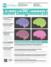 Journal of Advertising Research: 55 (2)