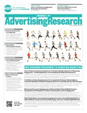 Journal of Advertising Research: 56 (1)