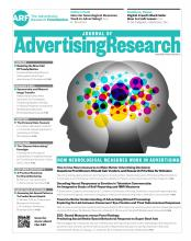 Journal of Advertising Research: 56 (2)