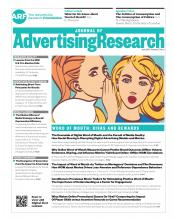 Journal of Advertising Research: 57 (2)