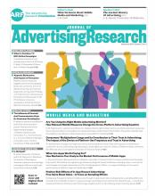 Journal of Advertising Research: 57 (3)