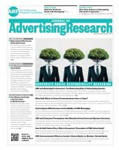 Journal of Advertising Research: 57 (4)