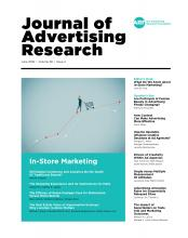 Journal of Advertising Research: 58 (2)