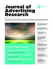 Journal of Advertising Research: 58 (3)