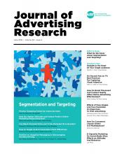 Journal of Advertising Research: 59 (2)