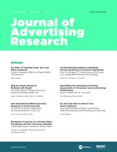 Journal of Advertising Research: 60 (3)